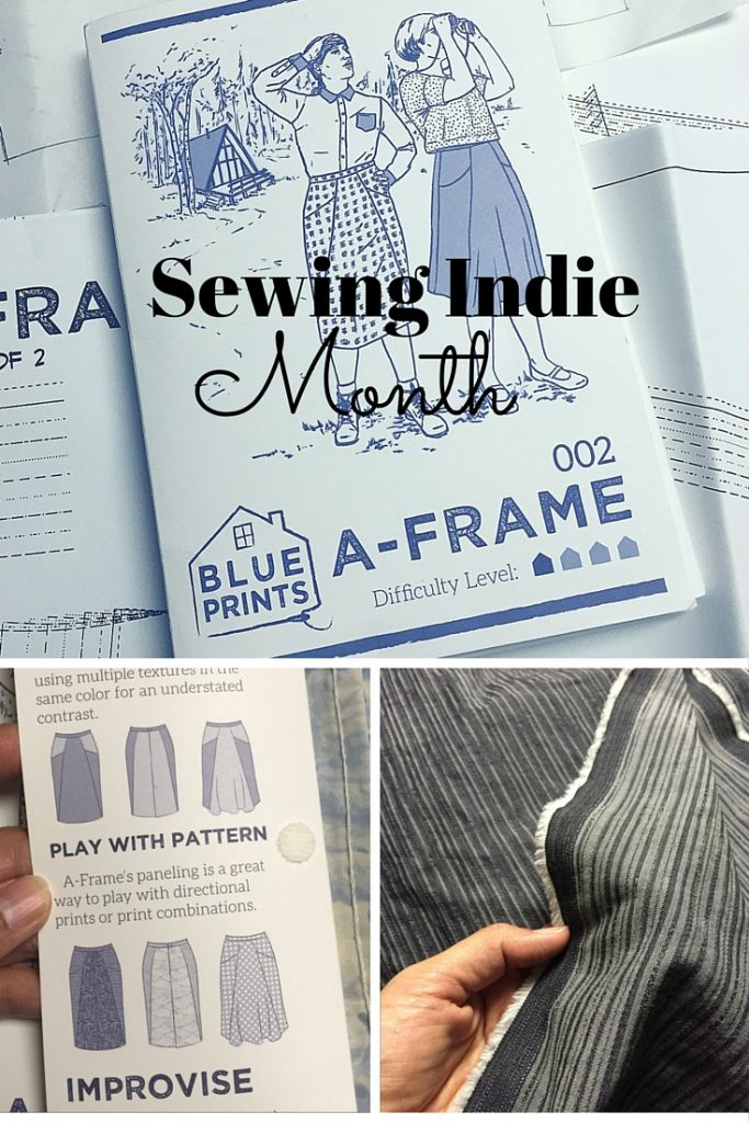 Sewing Indie Month - Blueprints for Sewing - A-Frame skirt - csews.com