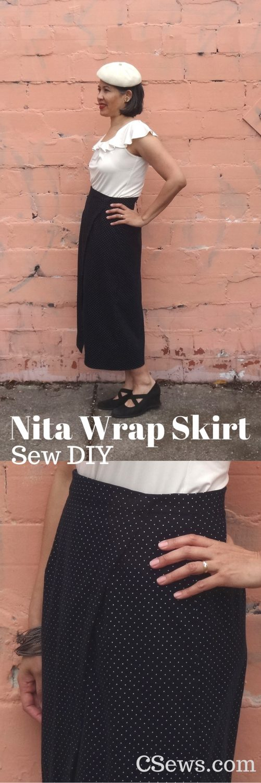 Nita Wrap Skirt - Sew DIY sewing pattern - indie pattern