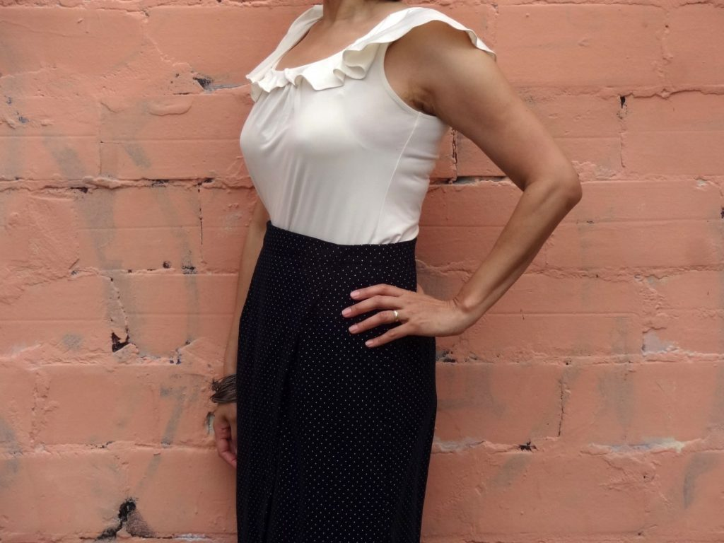 Nita Wrap Skirt - Sew DIY pattern - close up