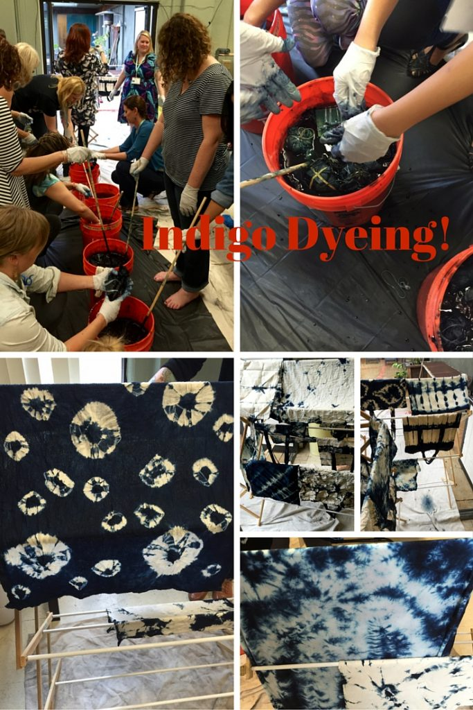Indigo Dyeing at Craftcation 2016 - csews.com