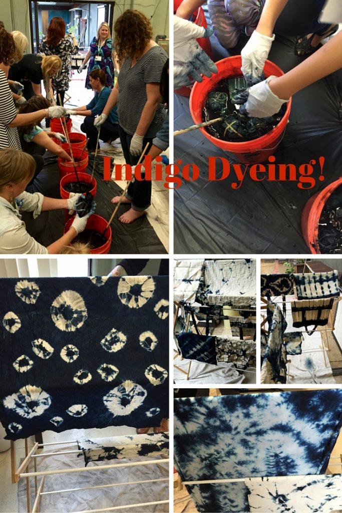 Indigo Dyeing at Craftcation 2016 - csews.com