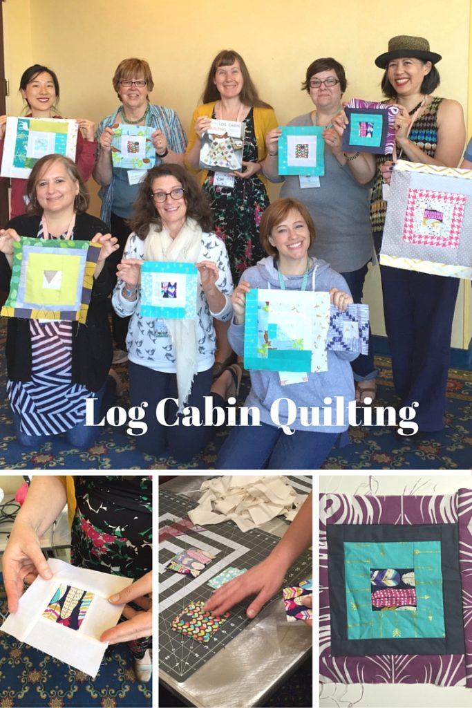 Log Cabin Quilting - Craftcation 2016 - csews.com