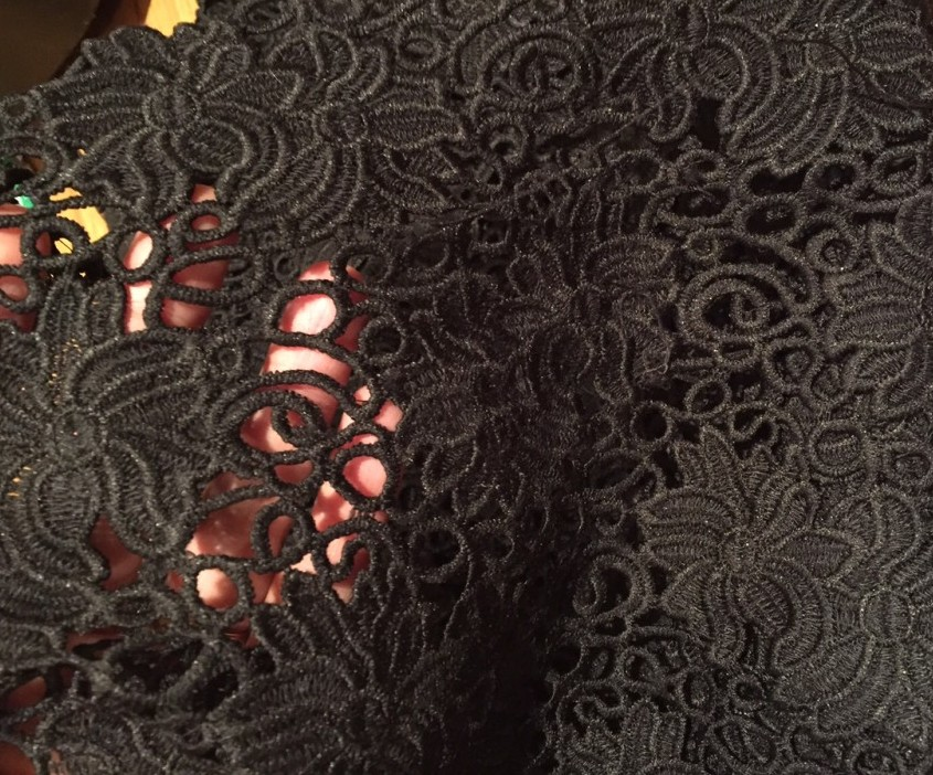 Guipure lace - Fabric for Less - New York trip - csews.com