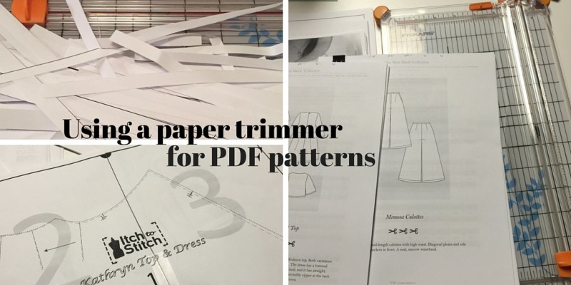Paper trimmers are great for PDF patterns