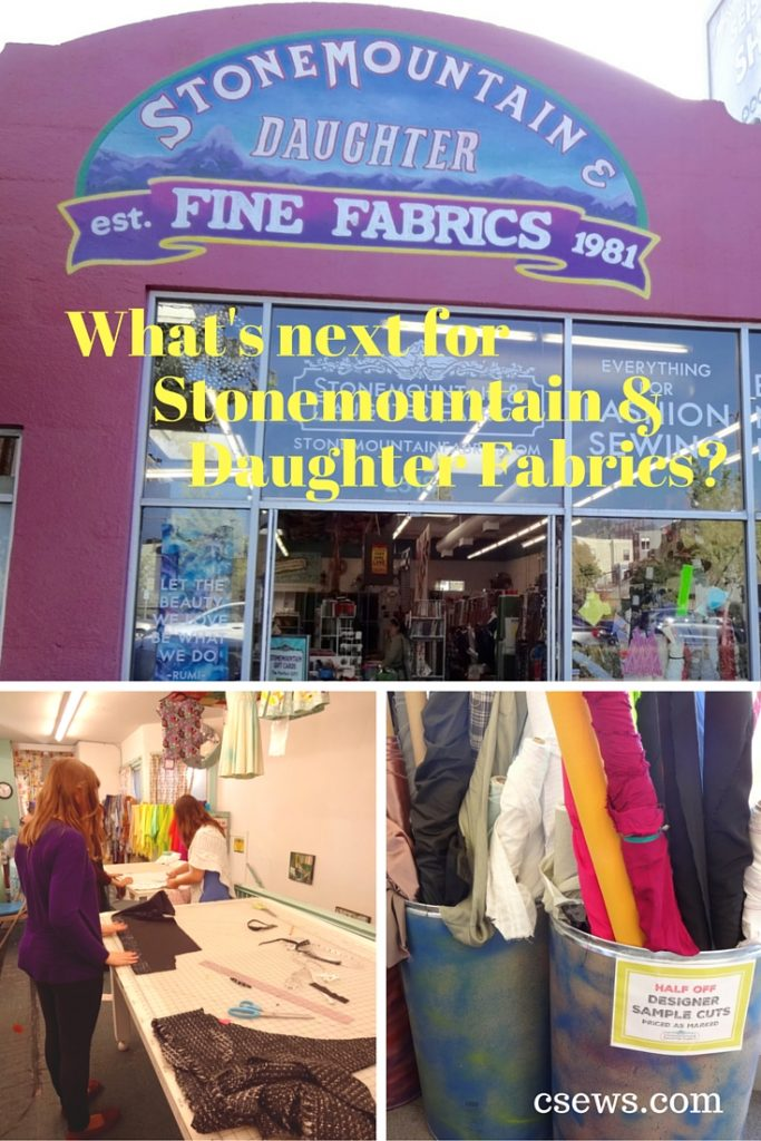 Stonemountain & Daughter Fabrics - what next after sewing classes end? csews.com