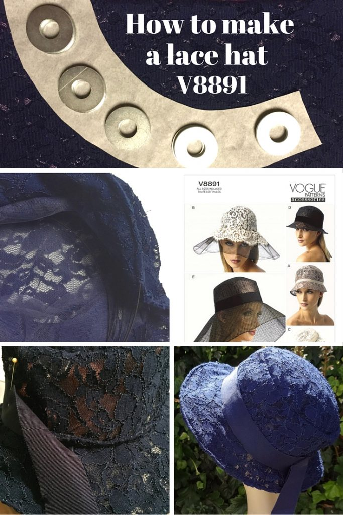 Millinery tutorial: Making a lace hat with V8891 - C Sews for Britex Fabrics blog