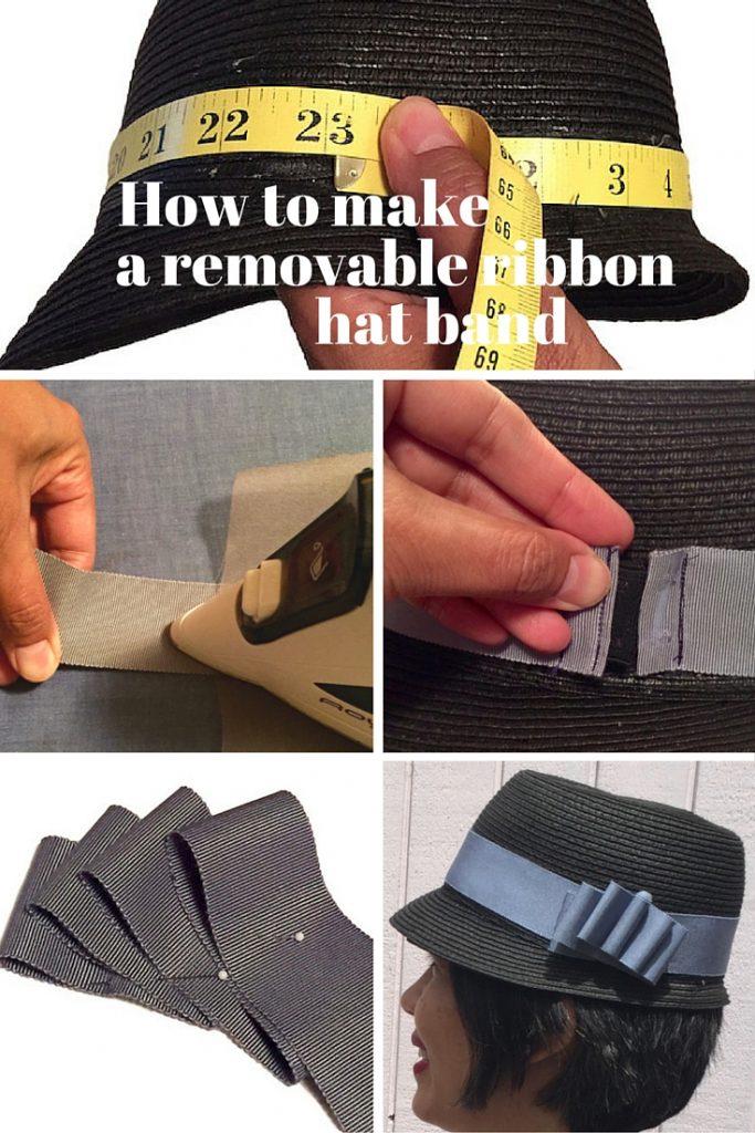 Millinery tutorials: how to make a removable ribbon hat band - C Sews for Britex Fabrics blog