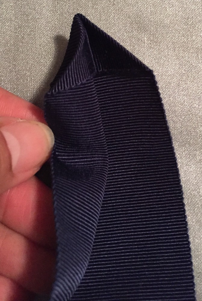 Pressing Petersham ribbon