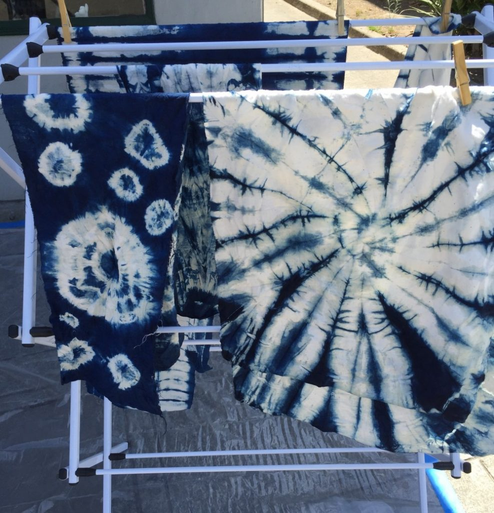 Shibori - Indigo dye results - Bay Area Sewists - CSews.com