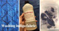 Washing indigo fabric - shibori, Synthrapol - CSews.com
