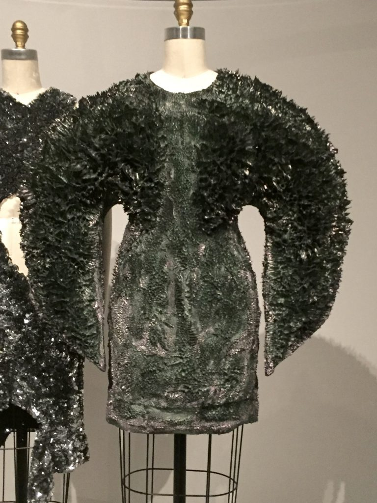 Manus x Machina - Iris van Herpen dress - fall/winter 2013-14 haute couture - Black-cotton twill, hand-painted with purple and polyurethne resin and iron filings, hand-sculpted with magnets
