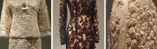 Manus x Machina - Saint Laurent suit, 1963; Marion Schwab Golden Lily Dress, 2008-09; Irish wedding dress, ca. 1870