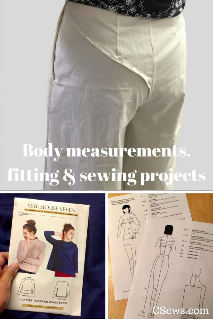 Taking body measurements for fitting sewing patterns