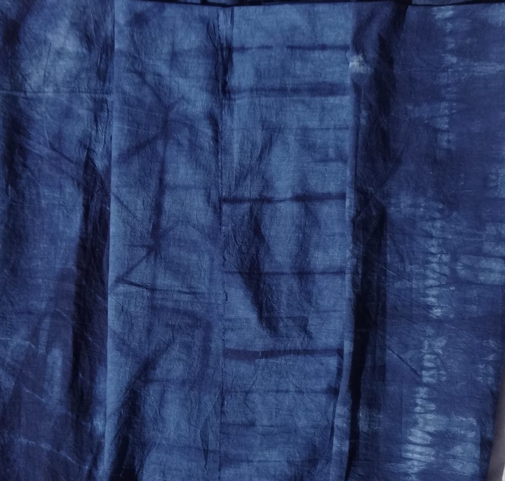 Shibori skirt fabric designs for 16-panel skirt
