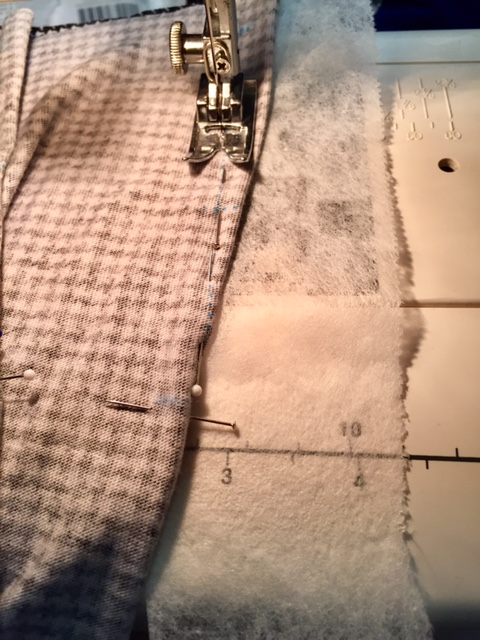 Sewing darts with tear-away stabilizer