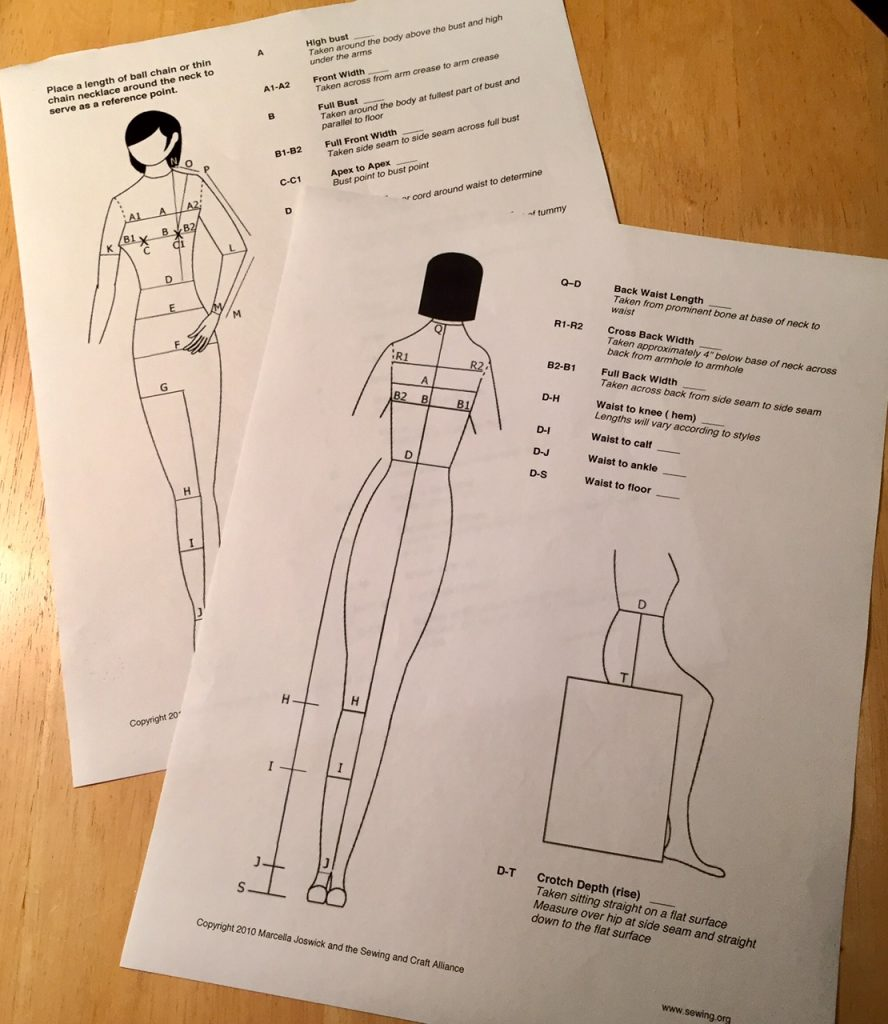 worksheet Sewing Worksheets body measurements fitting and sewing projects c sews measurement worksheet from org 28 measurements