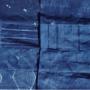 Shibori indigo dyed fabric for a skirt