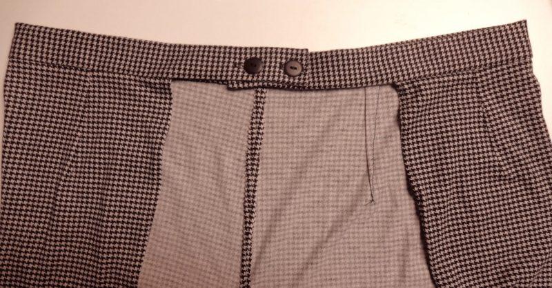 back detail, houndstooth jersey, V9191