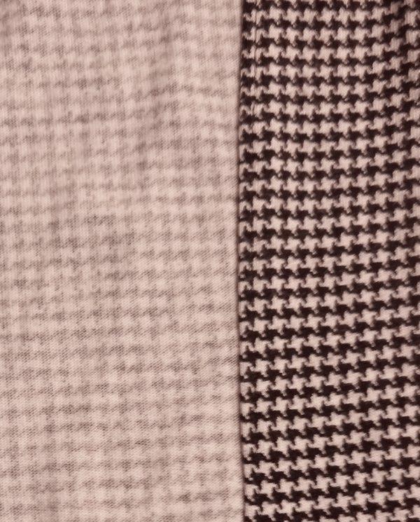 Vogue 9191 wrap pants - finished side, houndstooth jersey, V9191