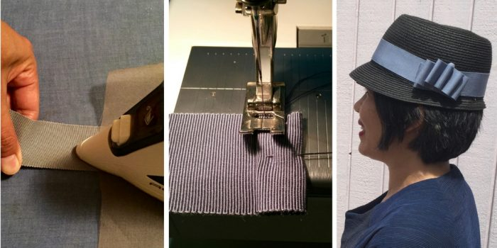 How to make a removable ribbon hat band – tutorial, Part 1