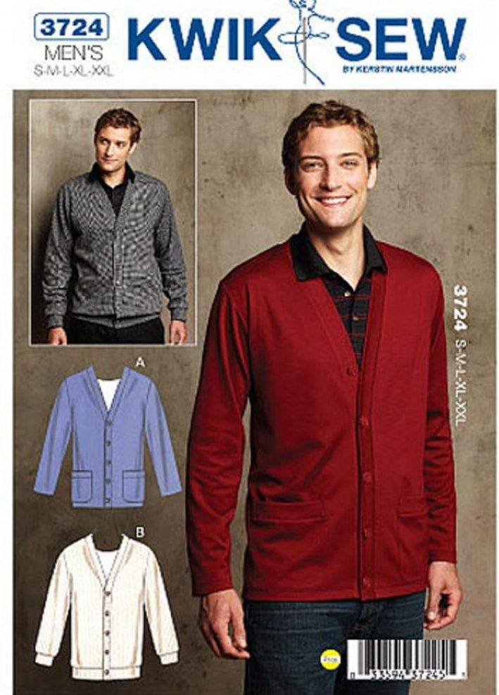 Kwik Sew 3724 men's cardigan - K3724