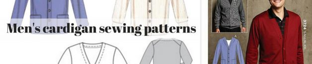 Men's cardigan sewing patterns - Burda, Kwik Sew