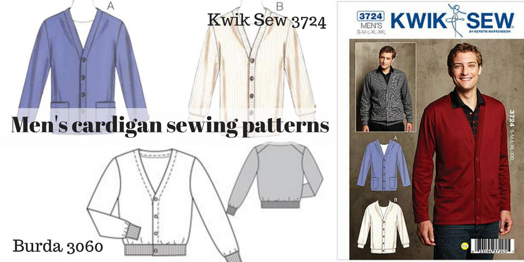 Mens Cardigan Sewing Patterns Kwik Sew 3724 And Burda 6030 C Sews