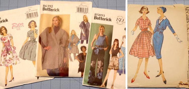 Sewing patterns-Butterick and vintage