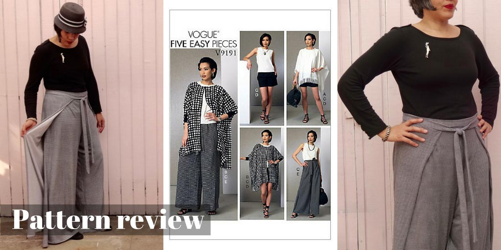 Pattern Review – Vogue 9191 sewing pattern