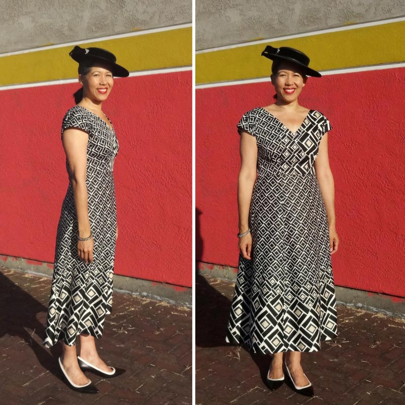 By Hand London Anna Dress - border print fabric - SeamstressTag