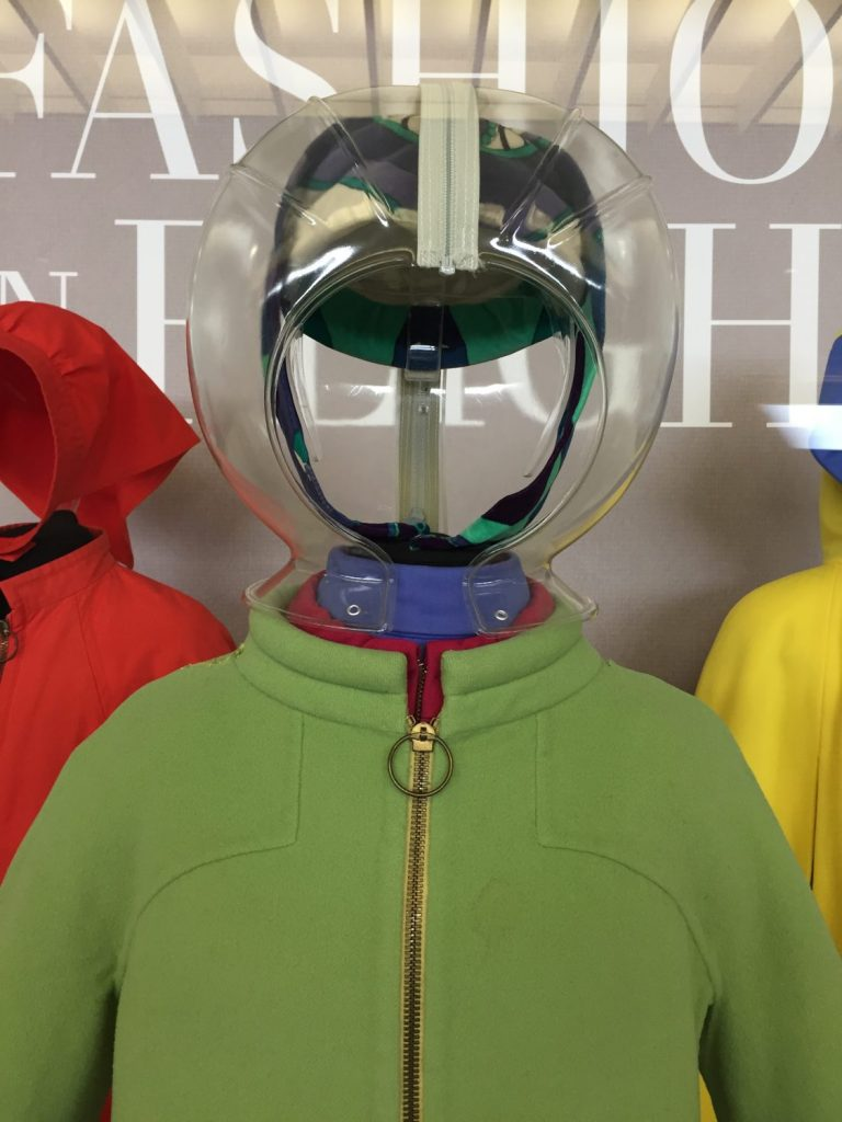 Braniff International Airways Gemini IV uniform, overcoat and bubble space helmet,