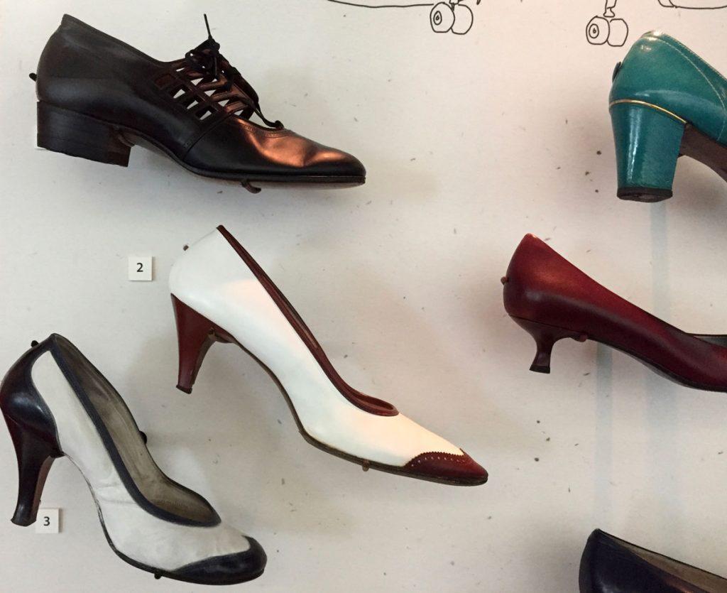 Shoes worn by flight attendants - Fashion in Flight exhibit - SFO Museum