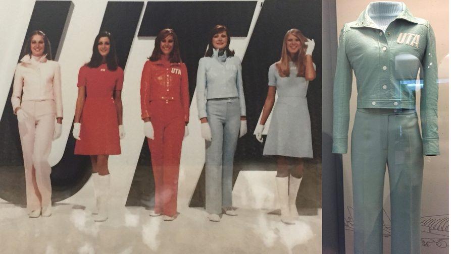 Union de Transport Aeeriens uniform designed by André Courréges 1973)