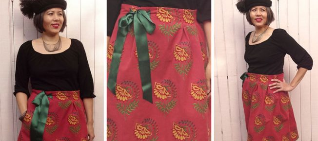 How to make an adjustable-waist skirt by modifying the Chardon Skirt pattern by Deer and Doe