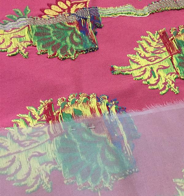 Silk organza as underlining for Chardon skirt