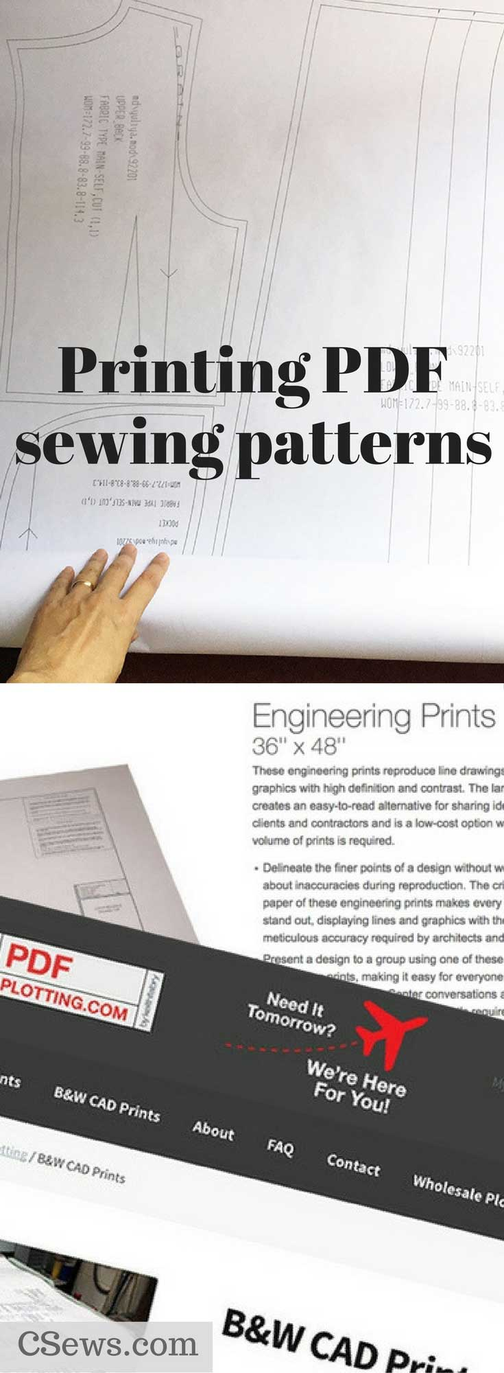 printing pdf patterns what are your options c sews