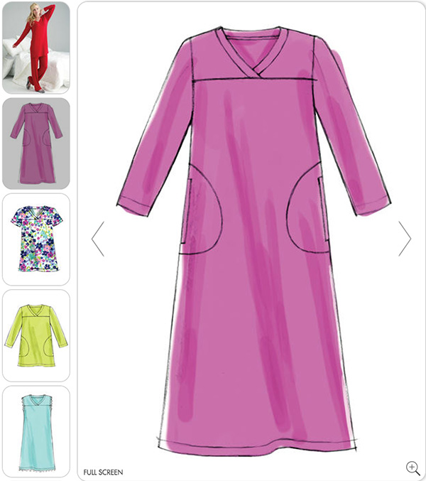 M6474 - sleepwear, nightgowns and pajamas for women - this basic design is good for women with Alzheimer's
