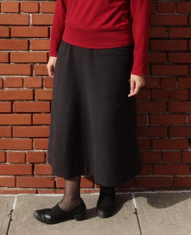 Basic Black A-line Block Skirt - pattern from Basic Black Japanese sewing book - Tuttle Publishing