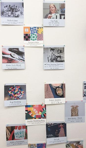 Classes at Hello Stitch sewing studio in Berkeley