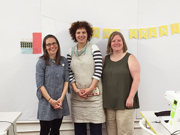 Hello Stitch Studio founders - Kristen (left), Stacey and Terri.