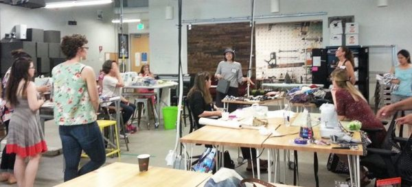 Google Garage - sewing machines and sergers available for employees