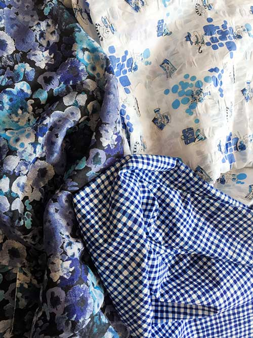 Cotton fabrics - blue - CSews