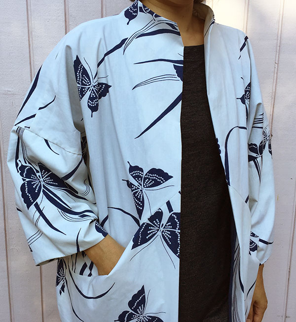 Papercut Patterns Sapporo Coat - front detail - C Sews mockup