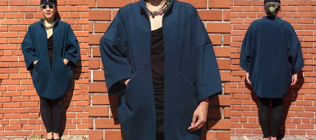 Papercut Patterns - Sapporo Coat - wool melton from Britex Fabrics- CSews.com