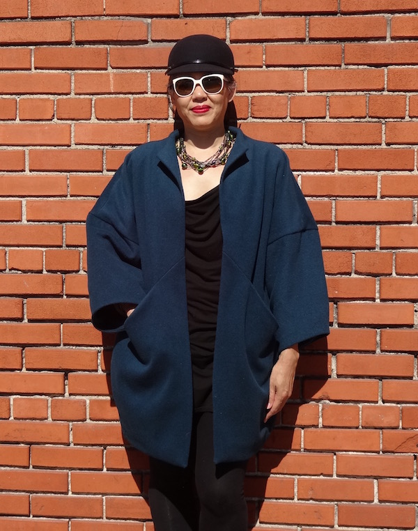 Sapporo Coat - wool melton - front view- CSews