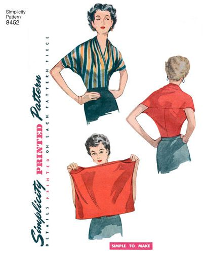 Fall sewing pattern - Simplicity 8452 - 1950s vintage reissue