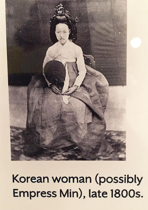 Couture Korea - photo of Korean woman, possibly Empress Min
