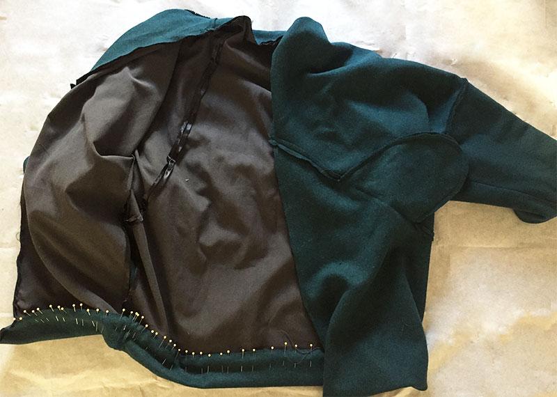 Sapporo Coat lining hem - CSews