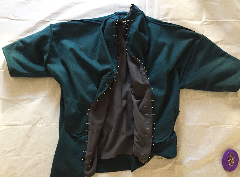 Sapporo Coat lining pinned - CSews