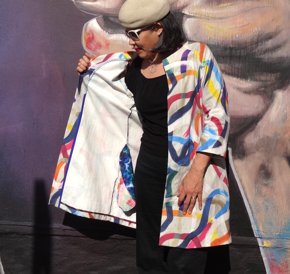 Pilvi Coat - Lotta Jansdotter Everyday Style - fabric from Britex Fabrics - CSews.com